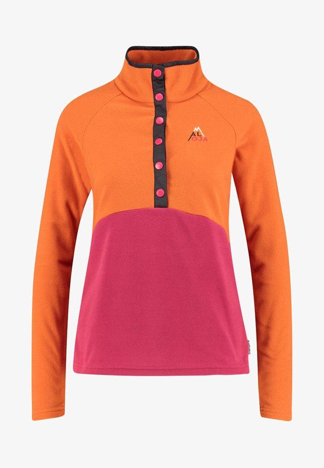 """MALOJA DAMEN FLEECEPULLOVER """"ALBULAM."""" - Fleece jumper - orange"""