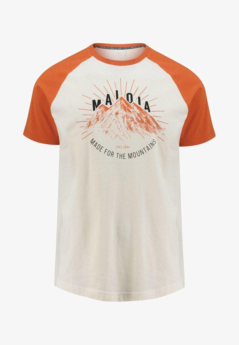 Maloja - PIAZZETM - Print T-shirt - orange