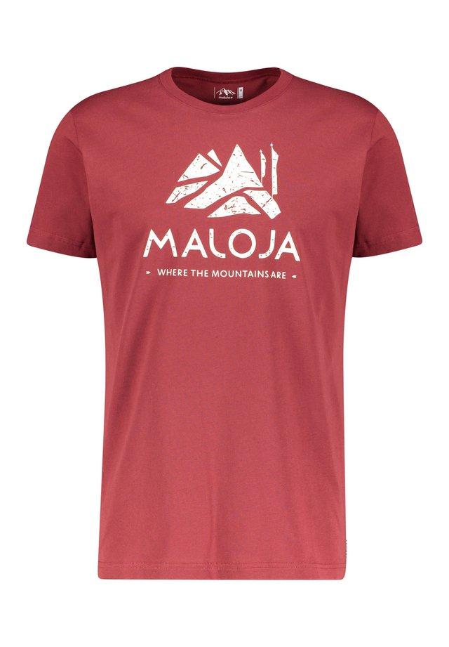 "MALOJA HERREN T-SHIRT ""GRASSITSCHM"" - Print T-shirt - bordeaux (502)"