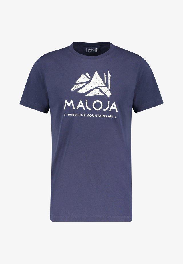 """MALOJA HERREN T-SHIRT """"GRASSITSCHM"""" - Print T-shirt - marine (300)"""