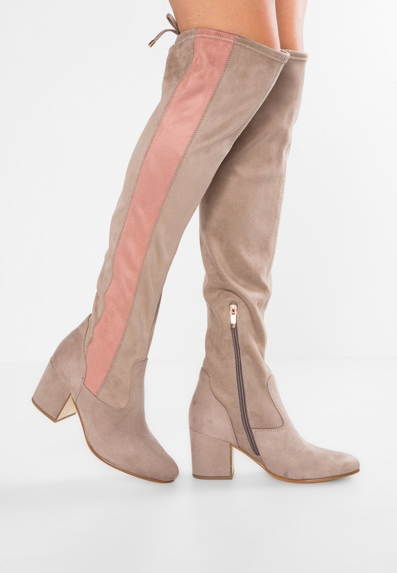 Marcel Ostertag x Tamaris - Over-the-knee boots - pepper/rose