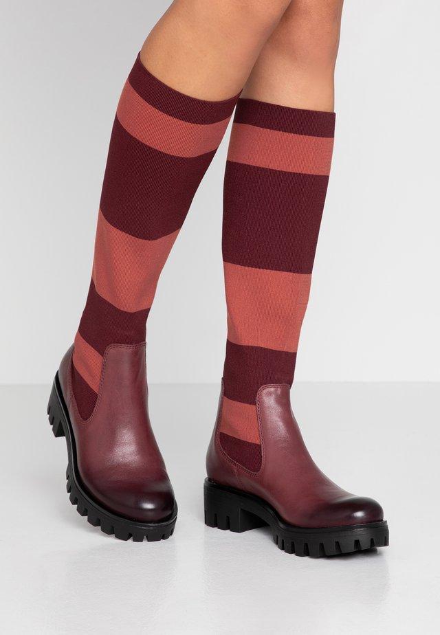 Platform boots - merlot