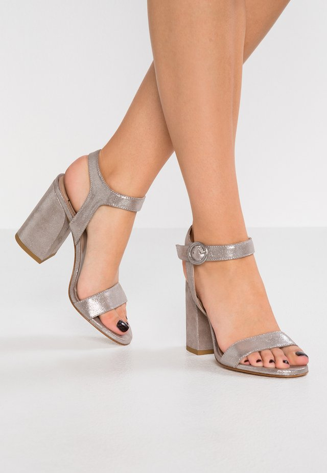 High heeled sandals - marylin taupe/argento