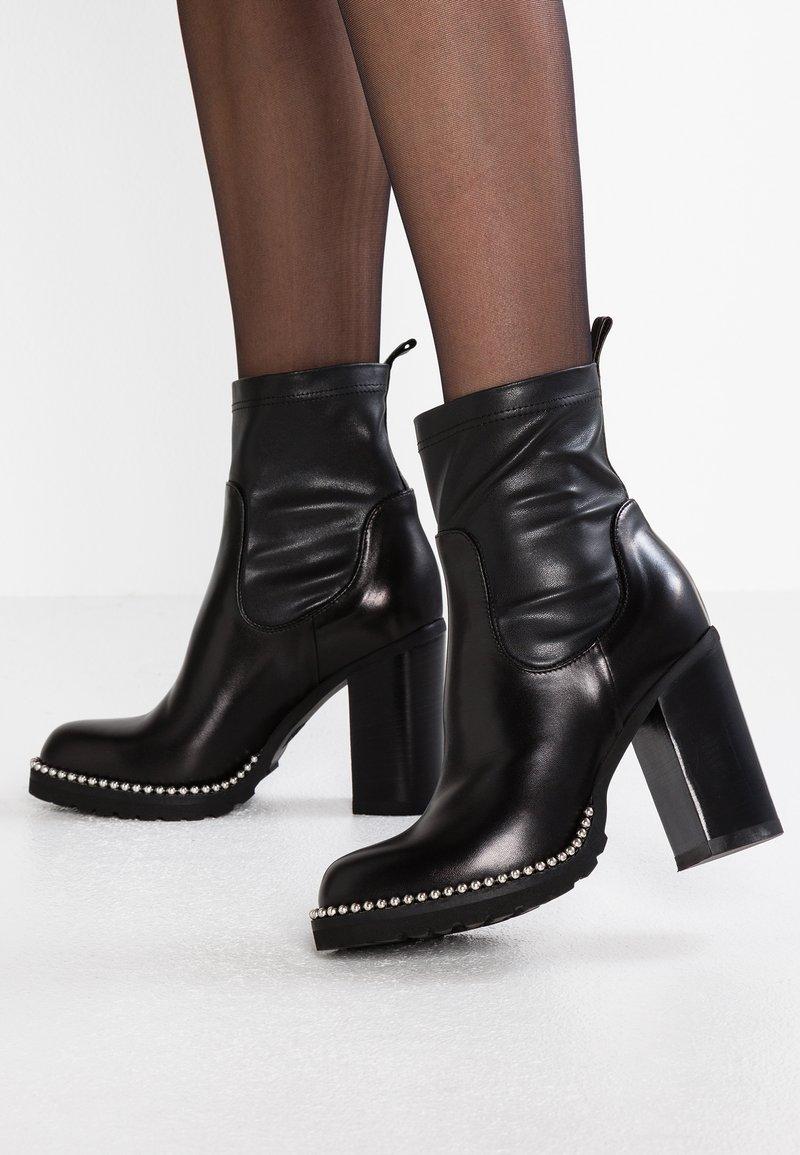 MA&LO - AISA - High heeled ankle boots - nero