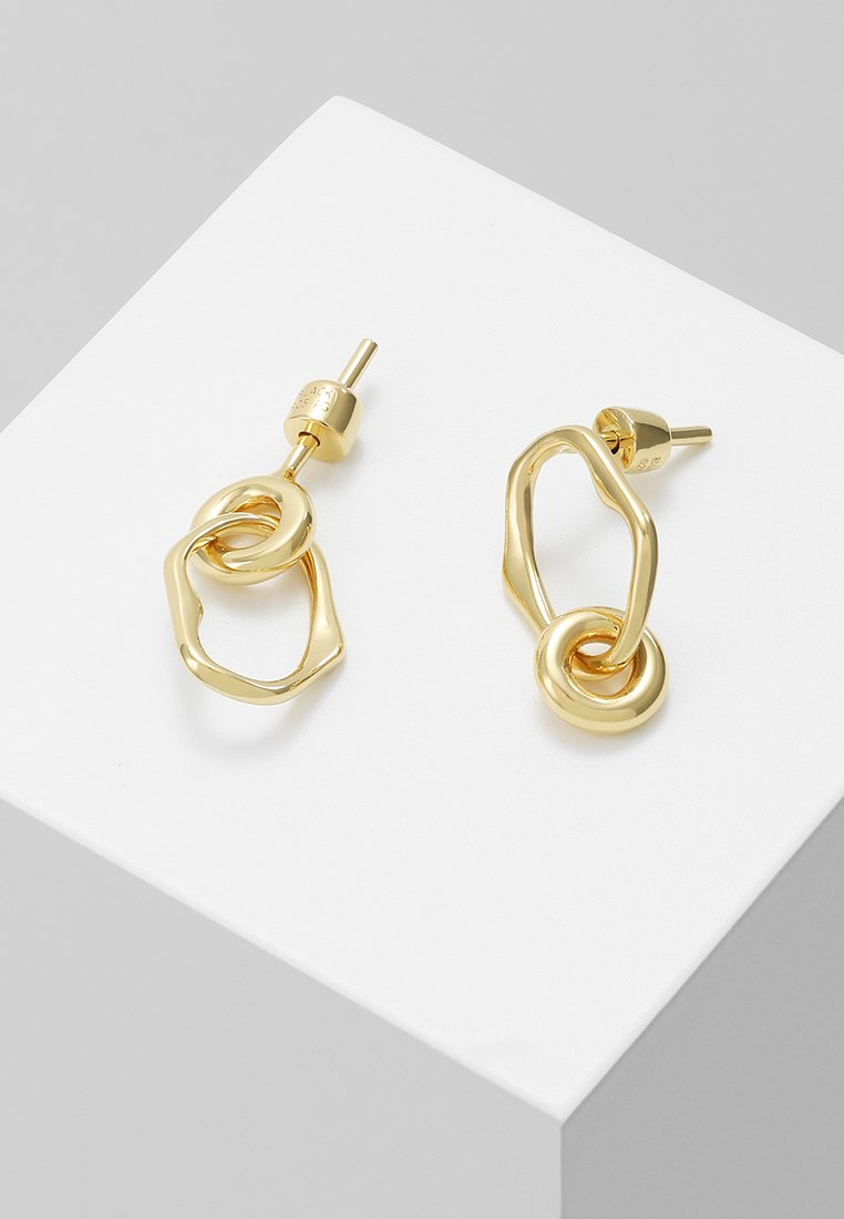 Maria Black - NOON MINI EARRING MINI MIDNIGHT EARRING - Oorbellen - gold-coloured