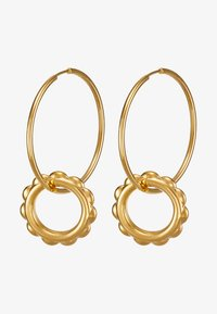 Maria Black - SENORITA HOOP PAIR POPPY CHARM - Earrings - gold-coloured - 3