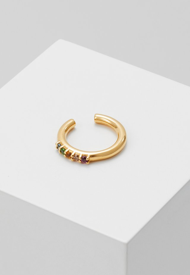 AMINA RAINBOW EARCUFF - Orecchini - gold-coloured
