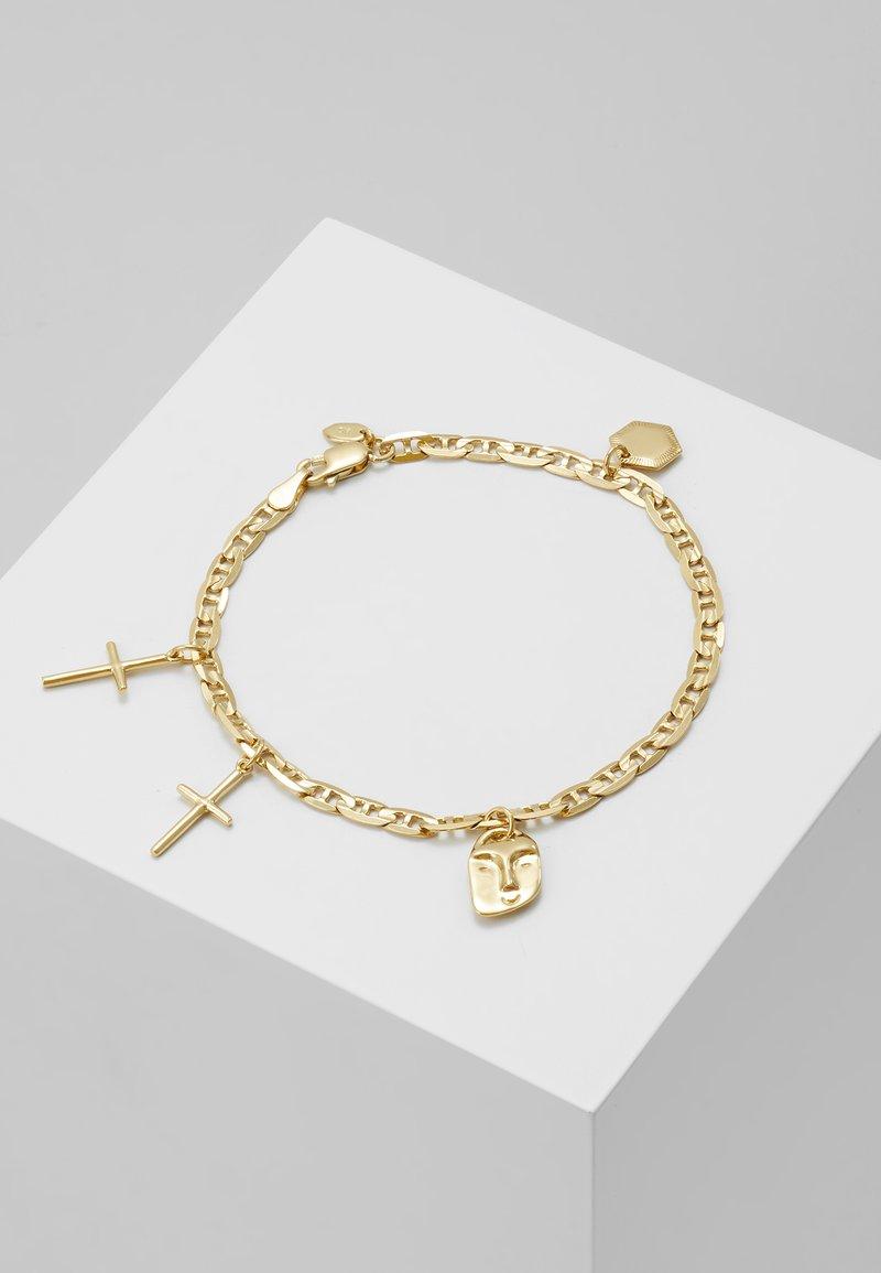 Maria Black - FRIEND CHARM BRACELET MEDIUM - Bracelet - gold-coloured