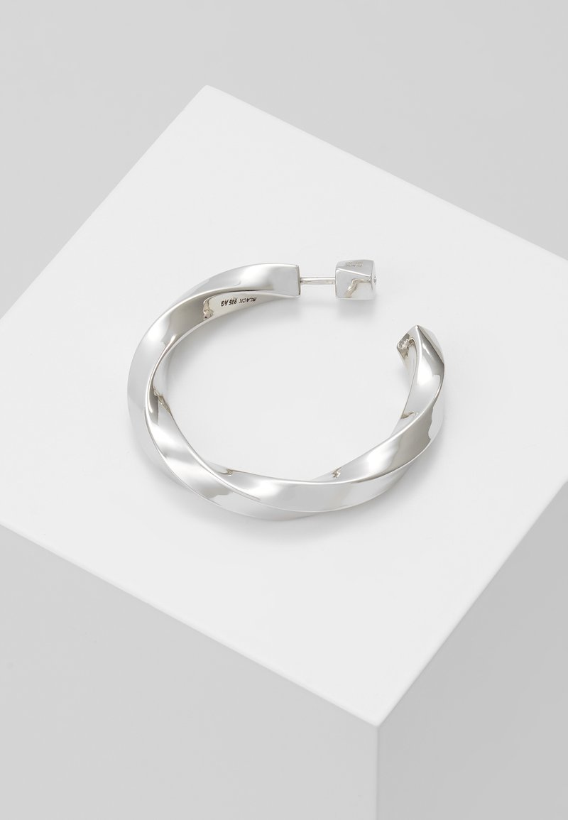 Maria Black - MARTINUS HOOP EARRING - Pendientes - silver-coloured