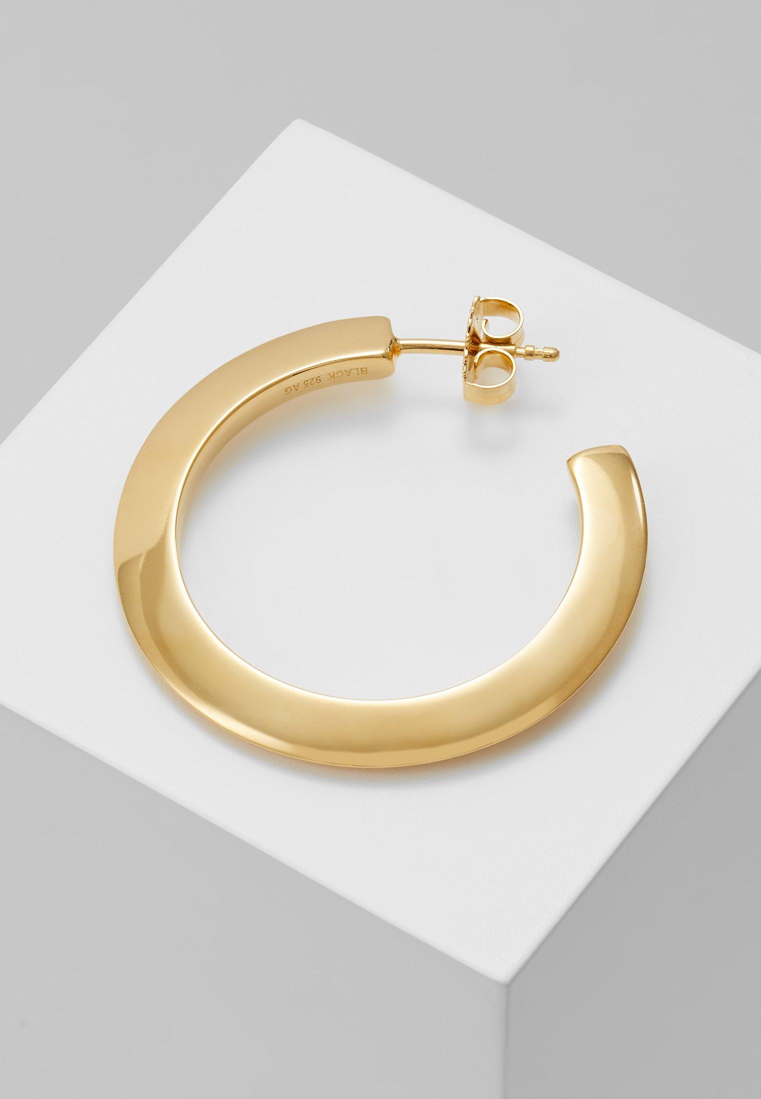 Gold Else EarringBoucles coloured D'oreilles Maria Medium Hoop Black MUzpqSV