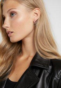 Maria Black - TWIN EARRING - Örhänge - silver-coloured - 1