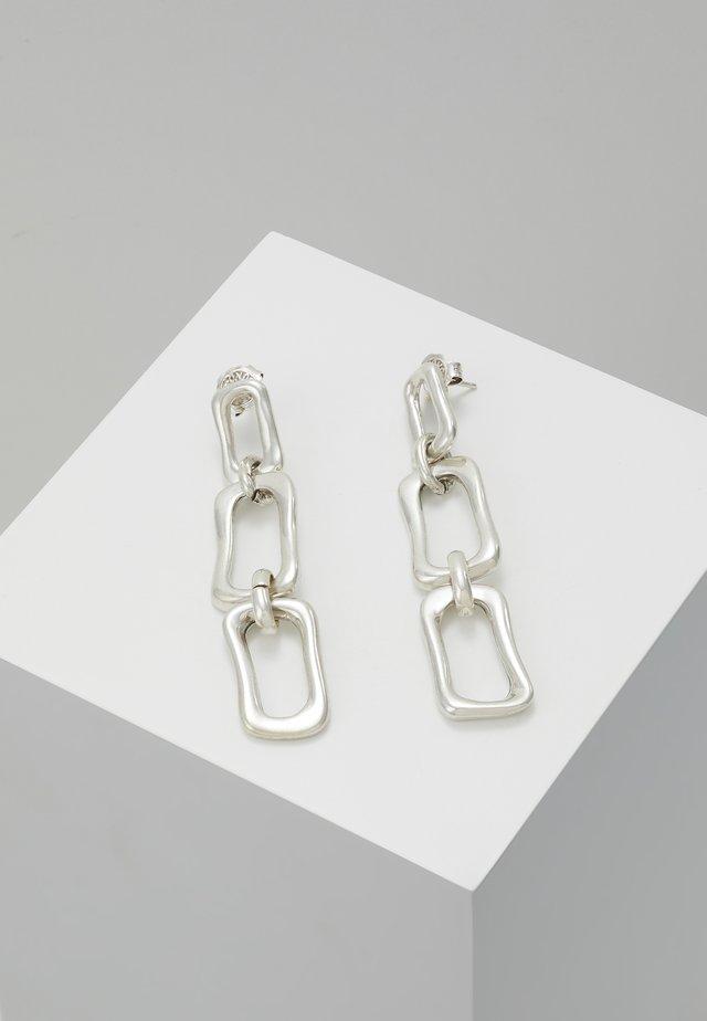 CHAIN BY CHAIN - Örhänge - silver-coloured