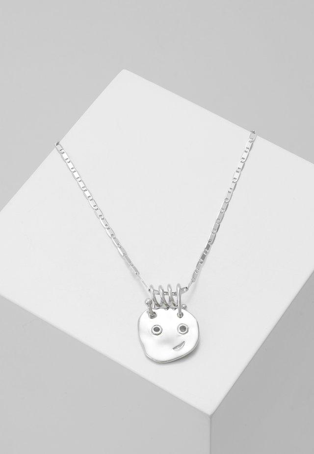 HAPPY HAPPY NECKLLACE - Necklace - silver-coloured