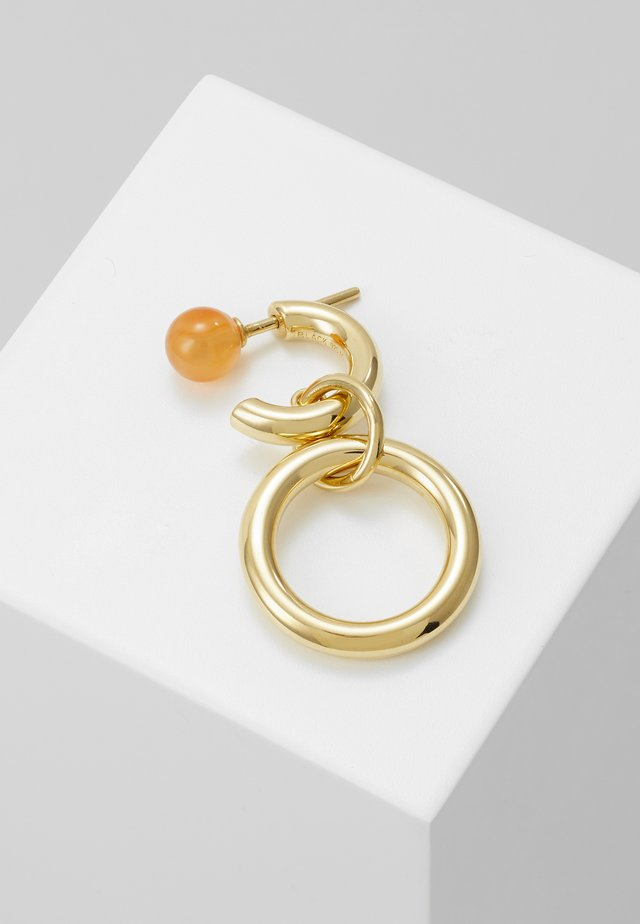 ANITA EARRING - Orecchini - gold-coloured/red