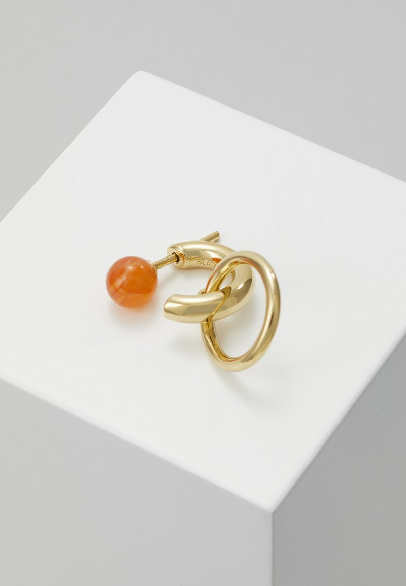 Maria Black - ELVIRA EARRING - Orecchini - gold-coloured/red