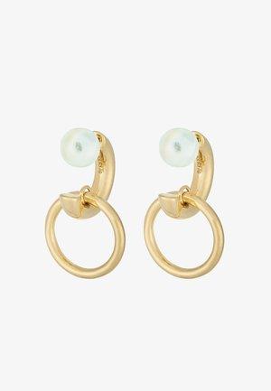 ELVIRA EARRING - Earrings - gold-coloured/green