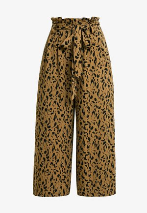 ANNELOT - Trousers - brown/black