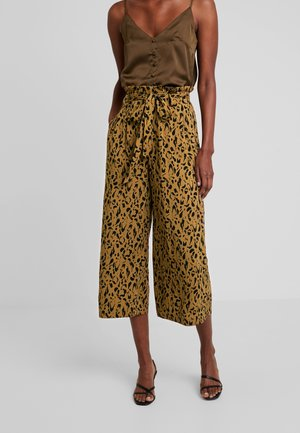 ANNELOT - Spodnie materiałowe - brown/black