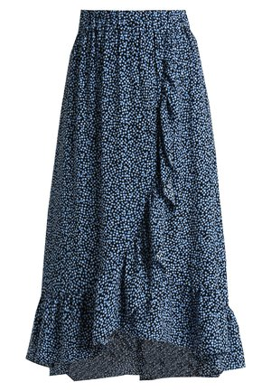 BIRKITA - Maxi skirt - dark blue