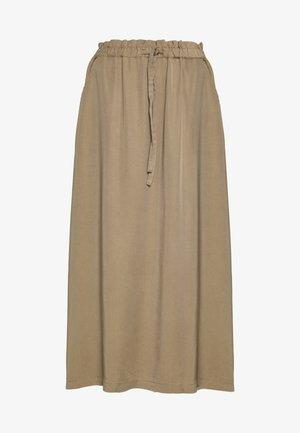 KAMILA - Maxi skirt - twig