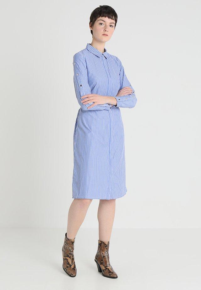 PEIGE - Shirt dress - blue/white