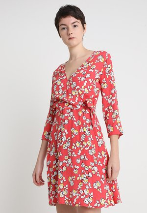 JANETTE - Day dress - red/white