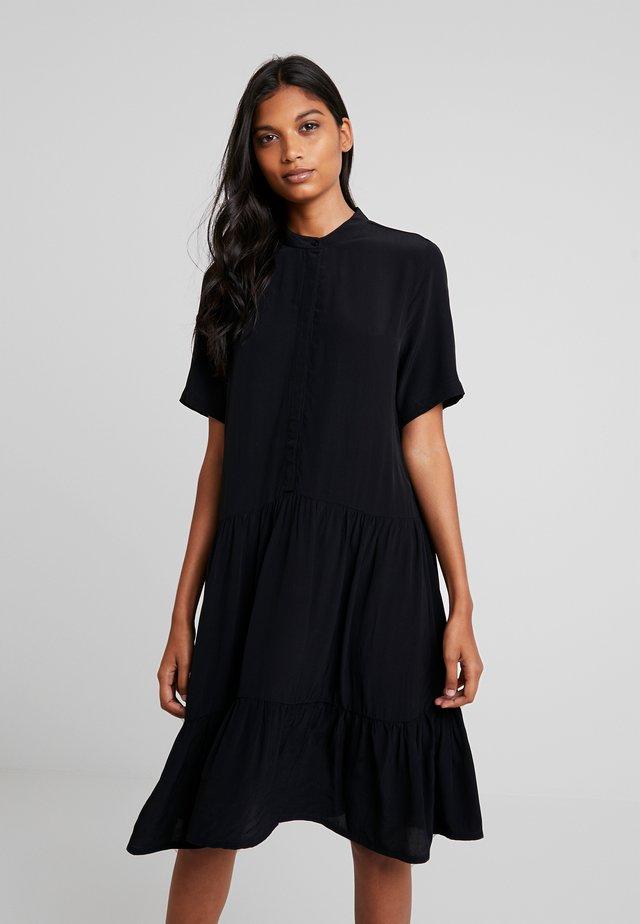 LECIA - Abito a camicia - black