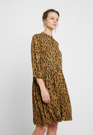 ALBANA - Korte jurk - brown/black