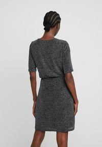 mbyM - FLORETTA - Jersey dress - black/sliver - 3