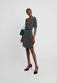 mbyM - FLORETTA - Jersey dress - black/sliver - 2