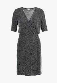 mbyM - FLORETTA - Jersey dress - black/sliver - 5