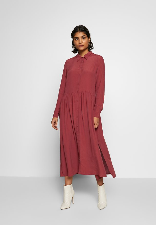 ELLIA - Shirt dress - russet brown