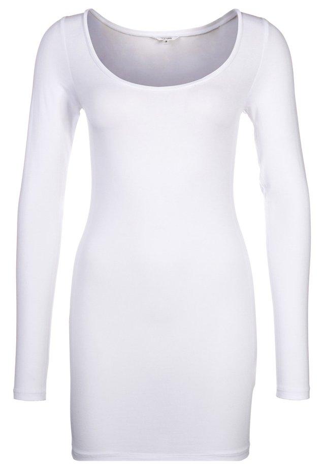 ANNA - Bluzka z długim rękawem - white