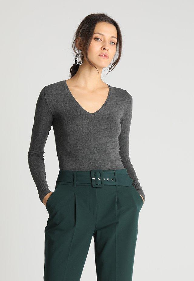 VANNA - Bluzka z długim rękawem - dark grey melange