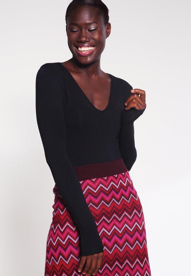 VANNA - Bluzka z długim rękawem - black