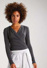 mbyM - LIONE - Long sleeved top - dark grey melange - 0