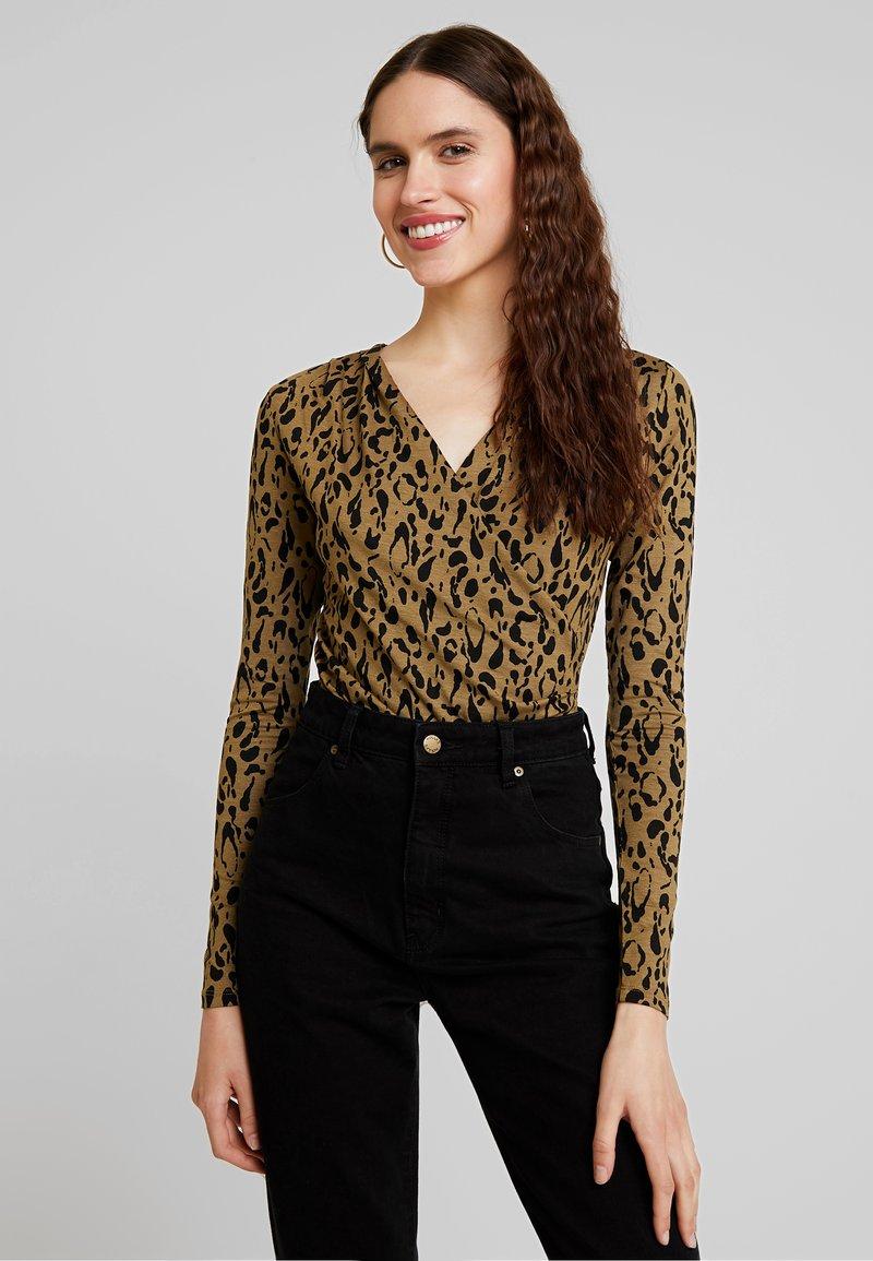 mbyM - LIONE - T-shirt à manches longues - brown/black