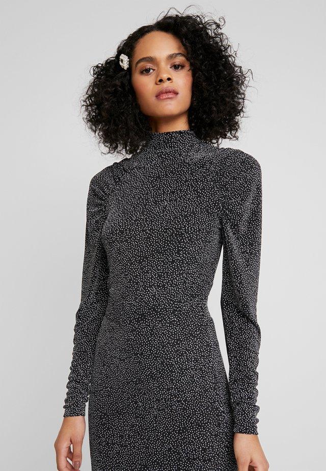 DARIELLA - Long sleeved top - black/sliver