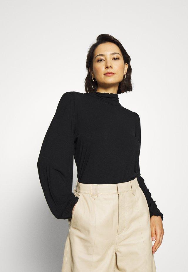 TANNA - T-shirt à manches longues - black