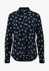 mbyM - KLARA - Button-down blouse - black/blue