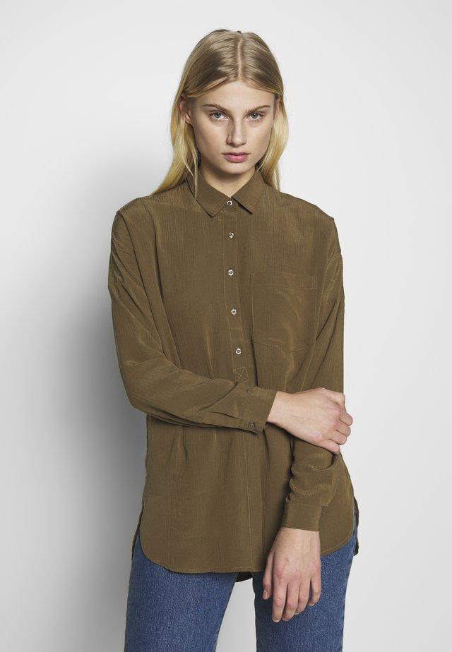 TIKKI - Button-down blouse - military olive