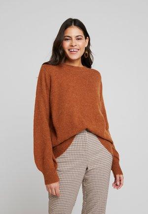 HELANOR - Svetr - mahogany brown melange