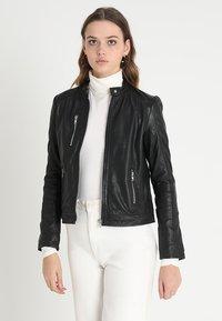 mbyM - VESLA EWA - Leather jacket - black - 0
