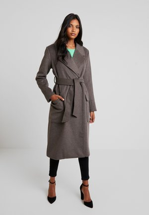 TOBY - Classic coat - grey brown melange