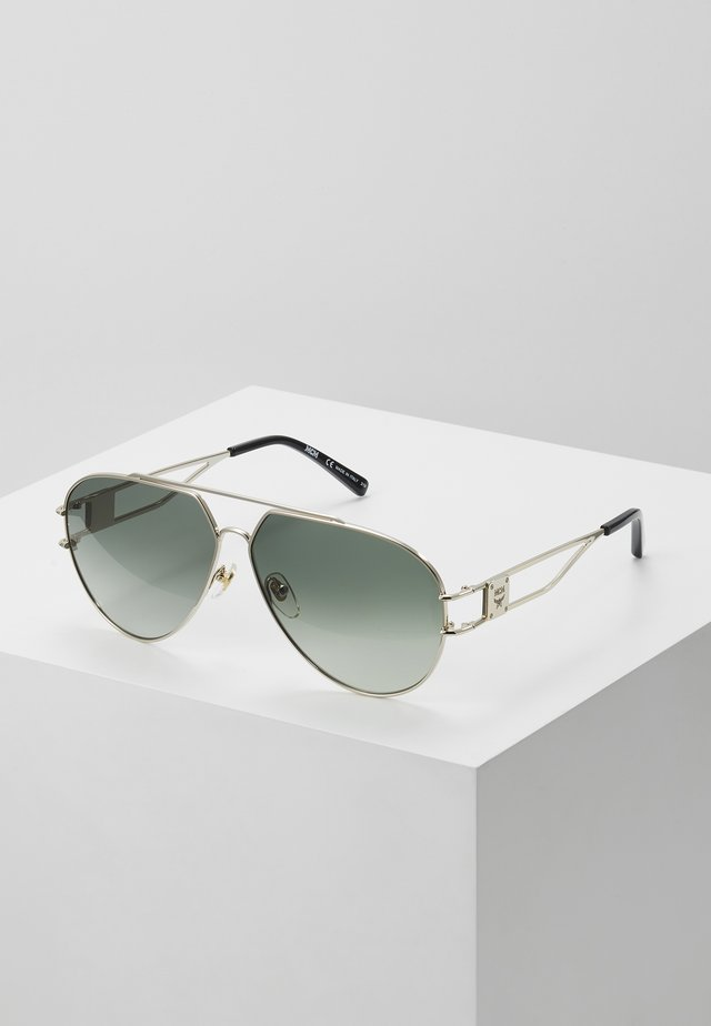 Sunglasses - shiny gold-coloured/grey