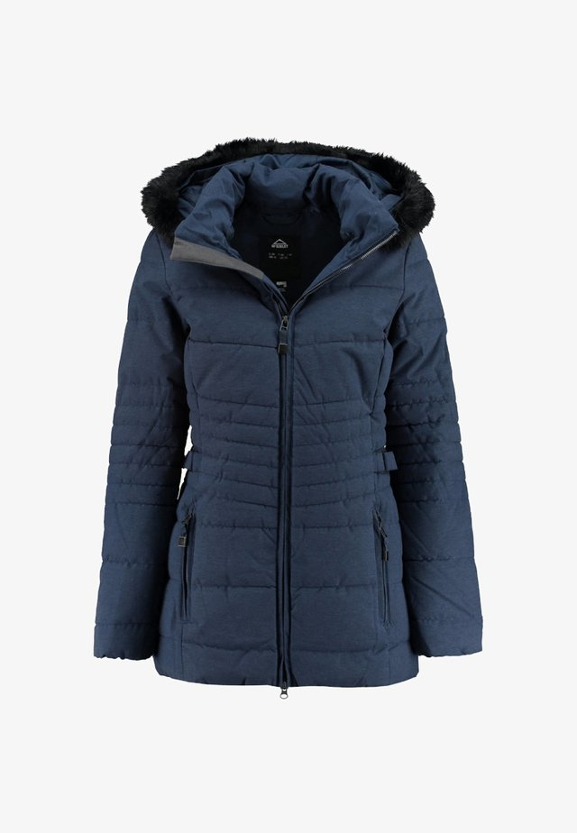 DAMEN POWAQA - Winter coat - mottled dark blue