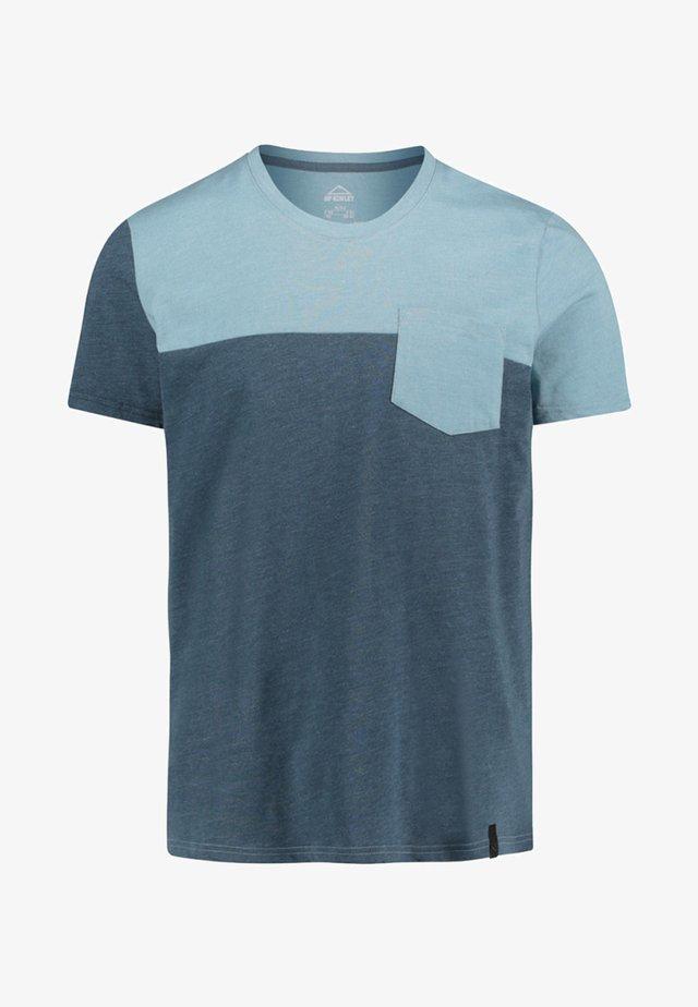 JOFFRE - Print T-shirt - smoky blue