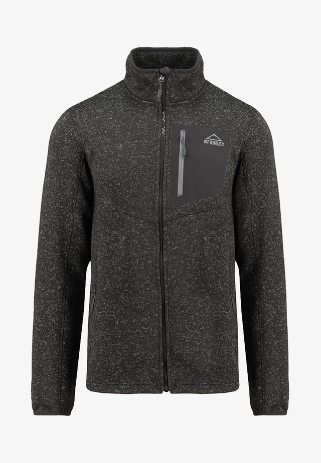 SKEENA - Fleece jacket - mottled anthracite