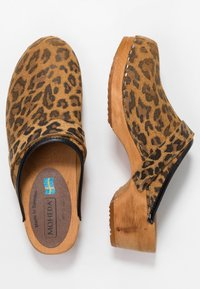 Moheda Toffeln - LENA - Clogs - light brown - 3