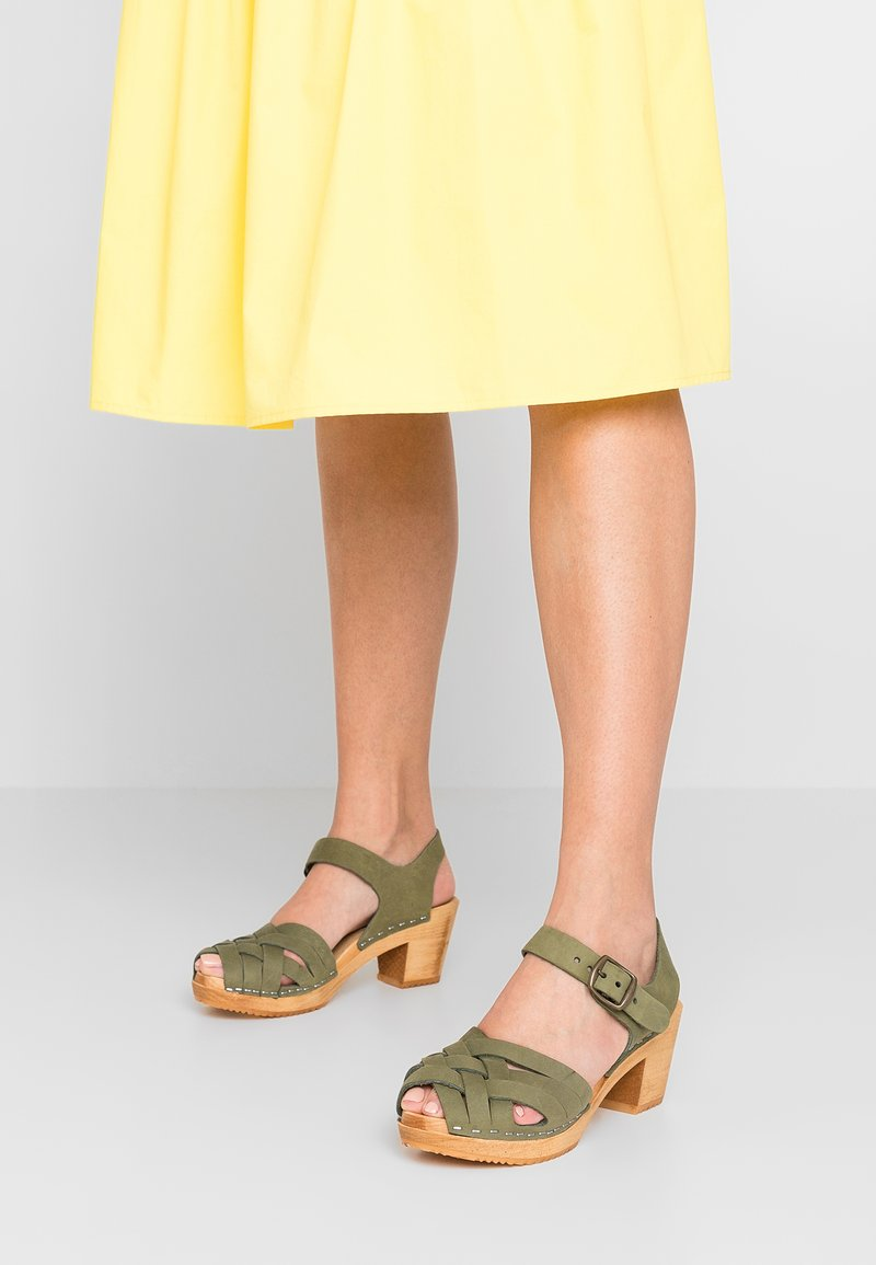 Moheda Toffeln - BETTY - Clogs - bamboo